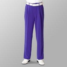 ステージ衣装 カラオケ衣装 パープル 紫 スラックス