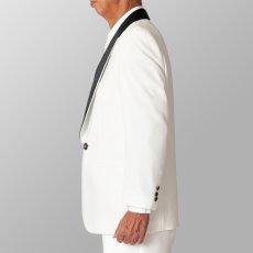 ホワイト 白 黒衿 ジャケット