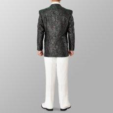 セットアップ例 シルバー×グリーン 銀色×緑 スーツ