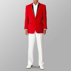 ステージ衣装 カラオケ衣装 セットアップ例 レッド 赤 スーツ