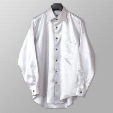 ステージ衣装 シルバー 銀 シャツ