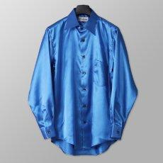 ステージ衣装 ブルー 青 シャツ