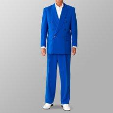 ステージ衣装 カラオケ衣装 セットアップ例 ブルー 青 スーツ
