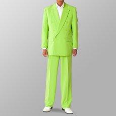 ステージ衣装 カラオケ衣装 セットアップ例 ライトグリーン 黄緑色 スーツ