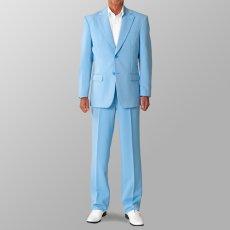 ステージ衣装 カラオケ衣装 セットアップ例 サックス 水色 スーツ