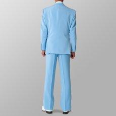 セットアップ例 サックス 水色 スーツ