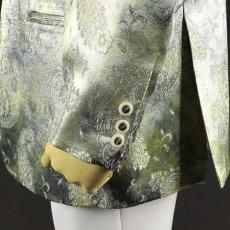 袖ボタン ライトグリーン 黄緑 ジャケット