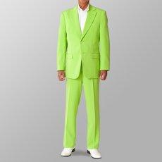 ステージ衣装 カラオケ衣装 セットアップ例 ライトグリーン 黄緑 スーツ