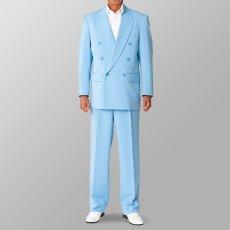 ステージ衣装 カラオケ衣装 セットアップ例 ライトブルー 水色 スーツ