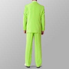 セットアップ例 ライトグリーン 黄緑 スーツ