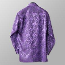 ステージ衣装 パープル 紫 ボタンダウンシャツ