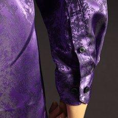袖ボタン パープル 紫