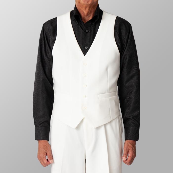 ステージ衣装 カラオケ衣装 ダンス衣装 ホワイト 白 ベスト