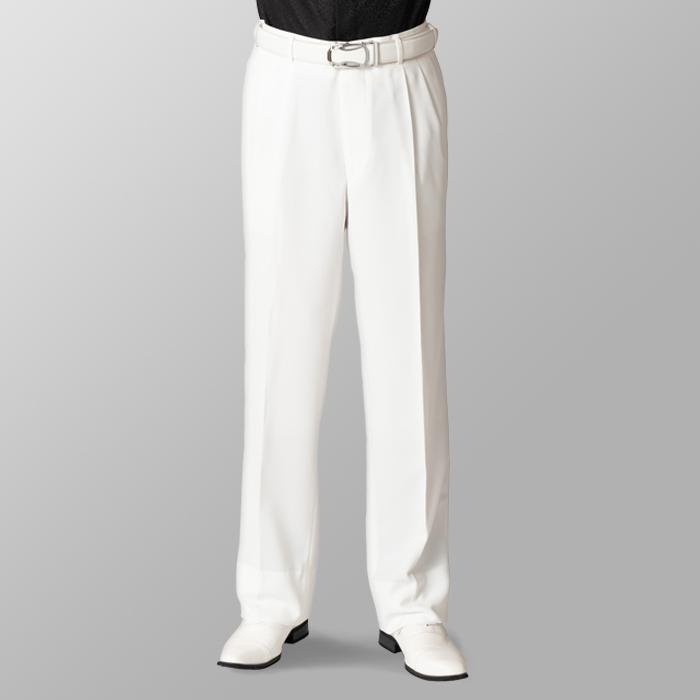 ステージ衣装 カラオケ衣装 ゴルフウェア ホワイト 白 スラックス