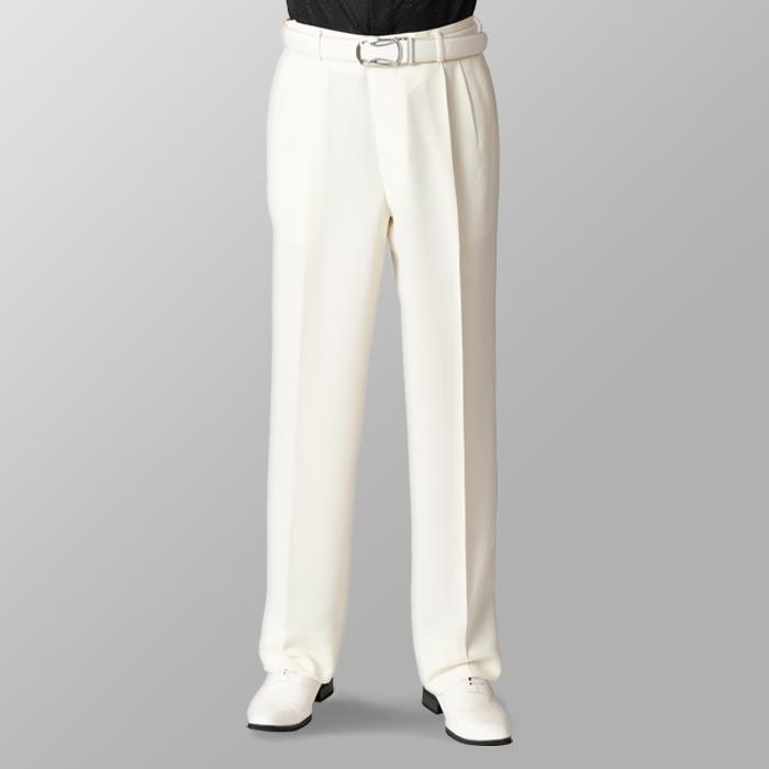 ステージ衣装 カラオケ衣装 ゴルフウェア アイボリー スラックス