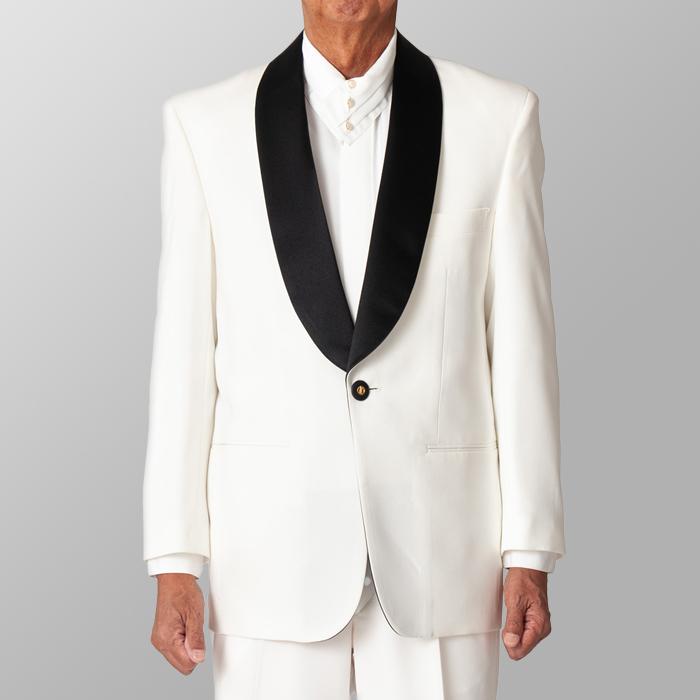 ステージ衣装 カラオケ衣装 ホワイト 白 黒衿 ジャケット