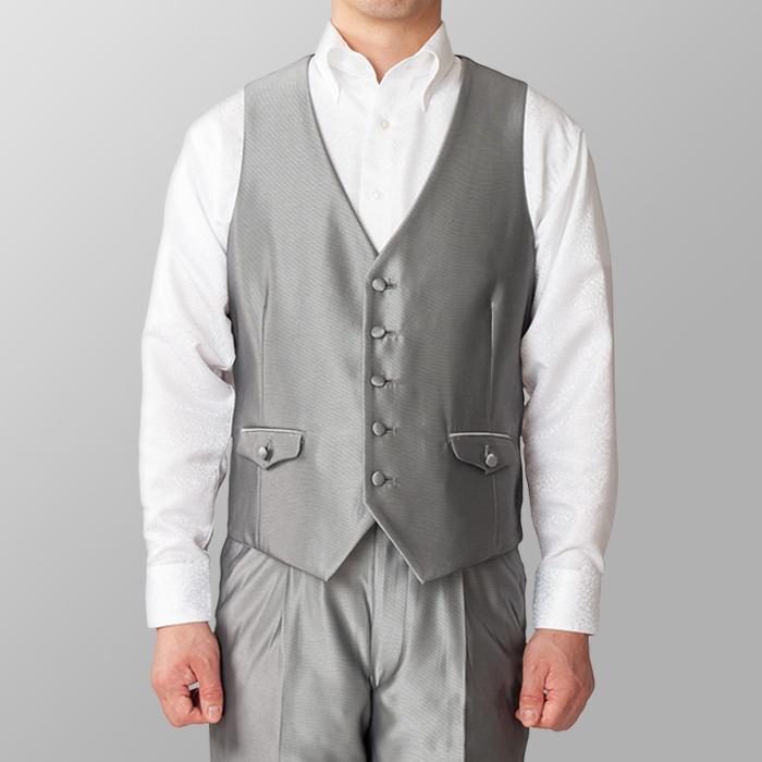 ステージ衣装 カラオケ衣装 シルバー 銀色 ベスト