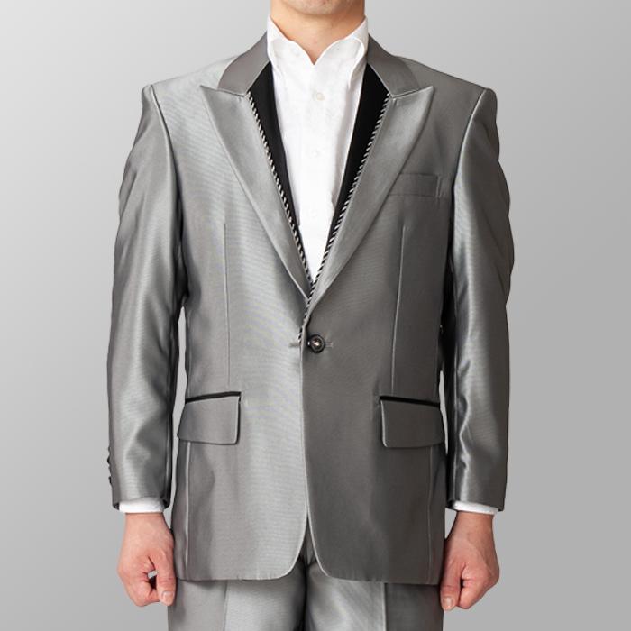 ステージ衣装 カラオケ衣装 シルバー 銀色 ジャケット