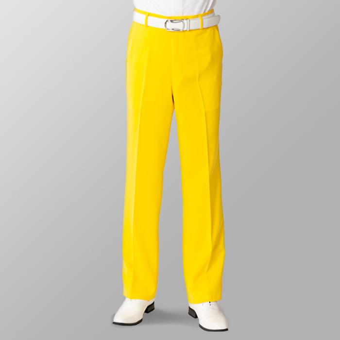 ステージ衣装 カラオケ衣装 ゴルフウェア イエロー 黄色 スラックス
