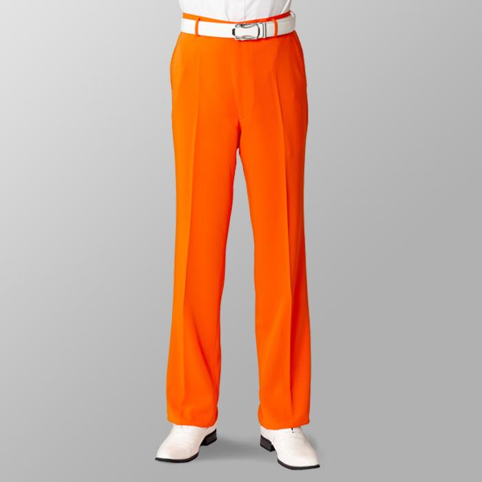 ステージ衣装 カラオケ衣装 ゴルフウェア オレンジ スラックス