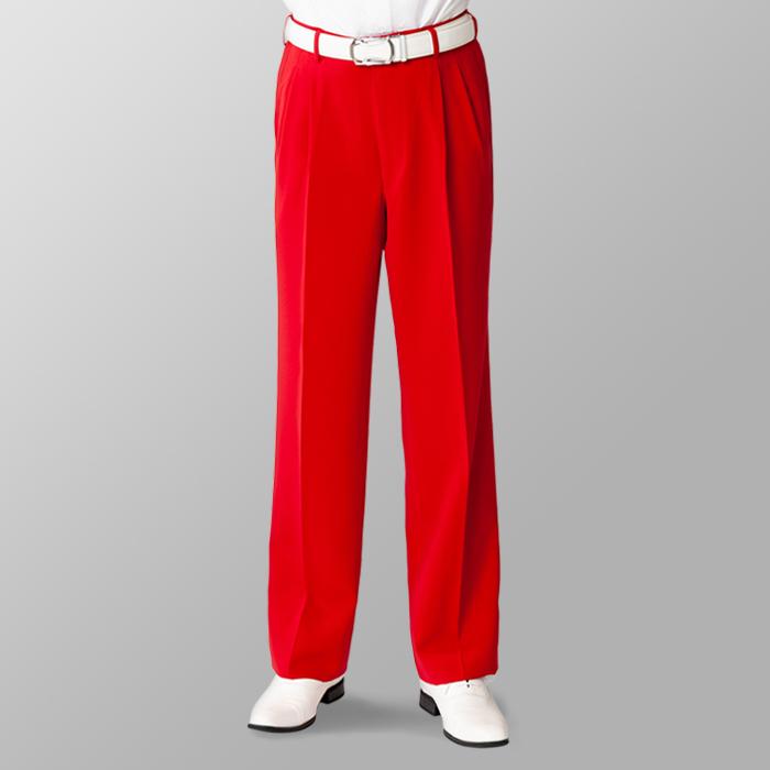 ステージ衣装 カラオケ衣装 ゴルフウェア レッド 赤 スラックス