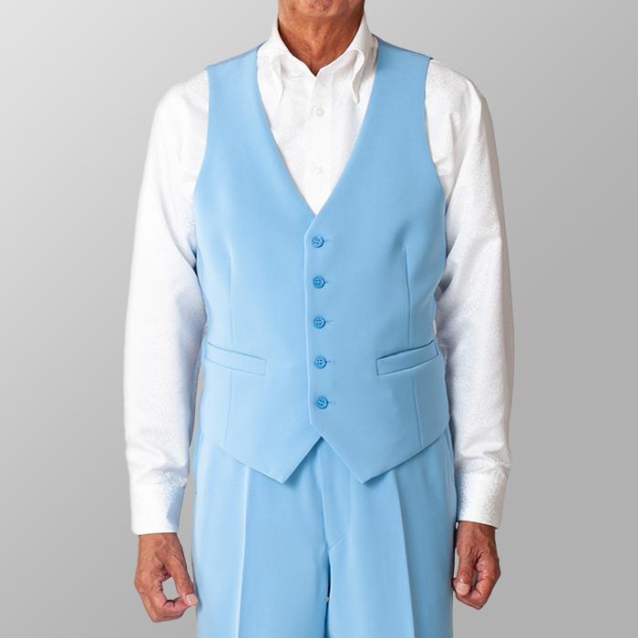 ステージ衣装 カラオケ衣装 ダンス衣装 ライトブルー 水色 ベスト