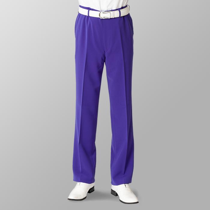 ステージ衣装 カラオケ衣装 ゴルフウェア パープル 紫 スラックス