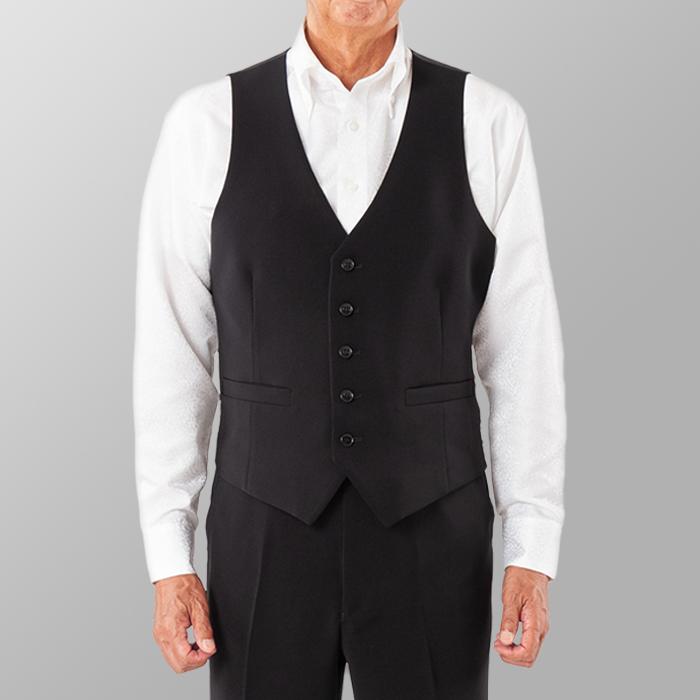 ステージ衣装 カラオケ衣装 ダンス衣装 ブラック 黒 ベスト