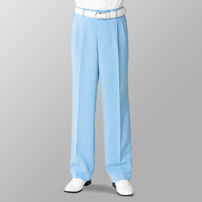 ステージ衣装 カラオケ衣装 ゴルフウェア ライトブルー 水色 スラックス