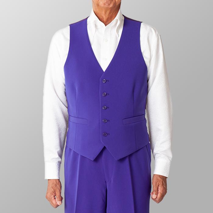 ステージ衣装 カラオケ衣装 ダンス衣装 パープル 紫 ベスト