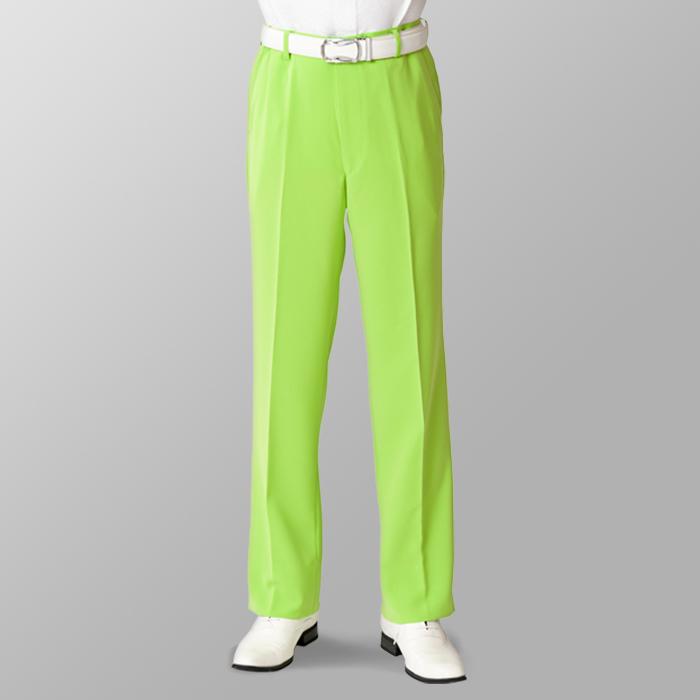 ステージ衣装 カラオケ衣装 ゴルフウェア ライトグリーン 黄緑 スラックス