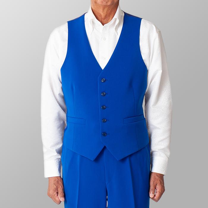 ステージ衣装 カラオケ衣装 ダンス衣装 ブルー 青 ベスト